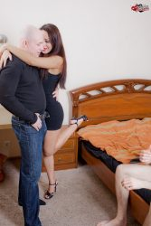 Cuckold good only to lick his wifes pussy, nothing more from submissive cuckolds