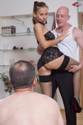 Hot cuckoldress and her sex adventures, subcuckold can only watch from submissive cuckolds