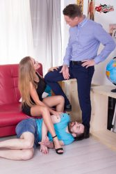 Beautiful wife and her submissive cuck from submissive cuckolds